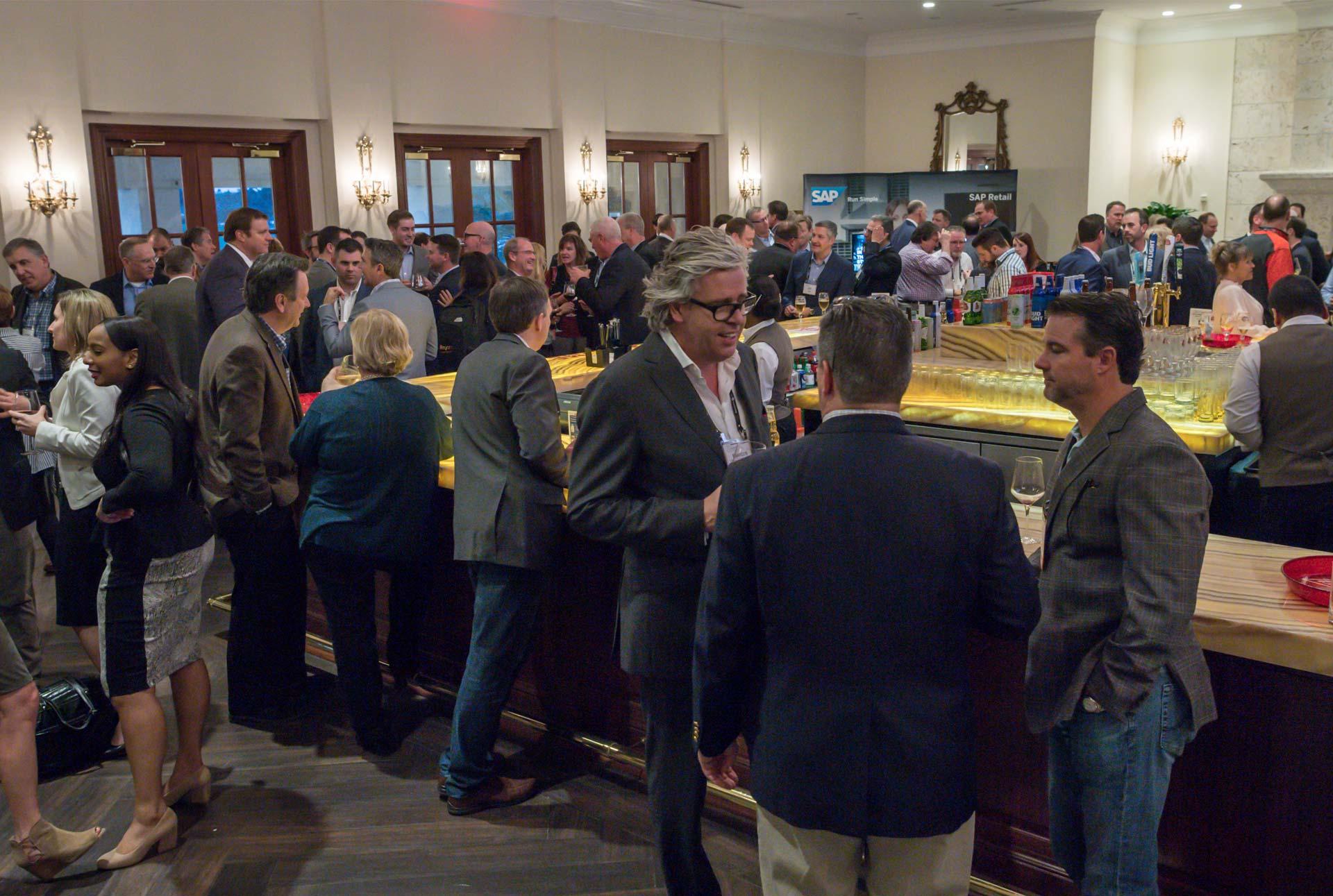 social event with a bar