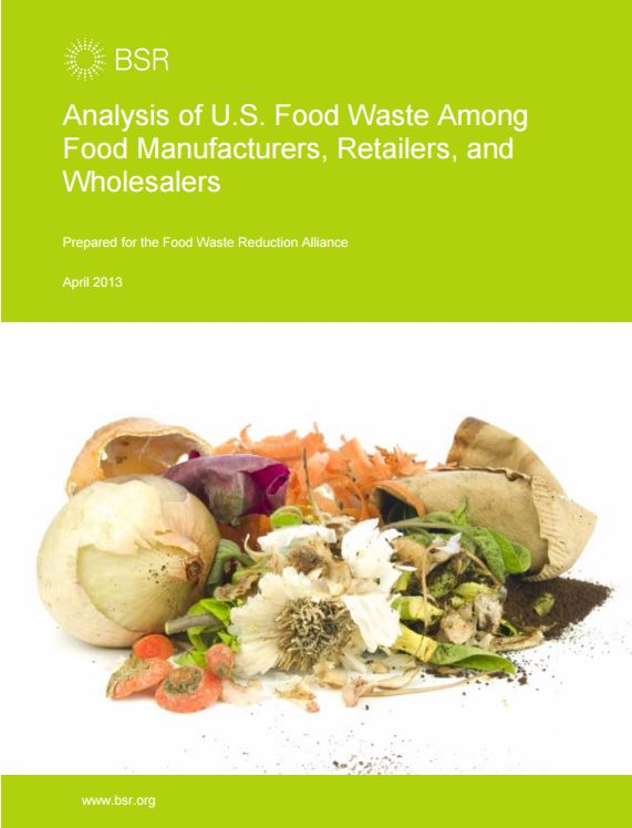 Analysis of U.S. Food Waste Among Food Manufactures, Retailers and Wholesalers
