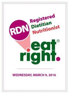 2016 Registered Dietitian Nutritionist Day