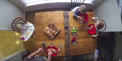 Family Meal Around the Table