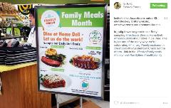 Festival Foods In Store Example of Family Meals Month