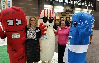FMI Food Safety Team hanging with E (E. coli), Sal (Salmonella), and Liz (Listeria)