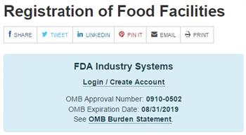 Food Facility Registration
