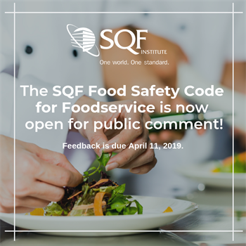 Foodservice code is now open for public comment