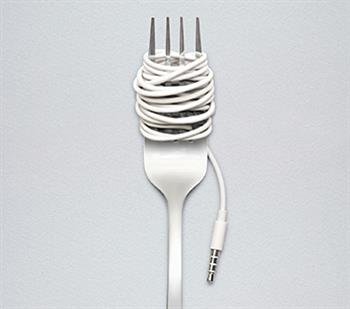 Fork with Technology Cord