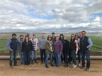 mg-caption: The FMI Food Protection Committee visited leafy green farms in Yuma, AZ to learn about water safety.