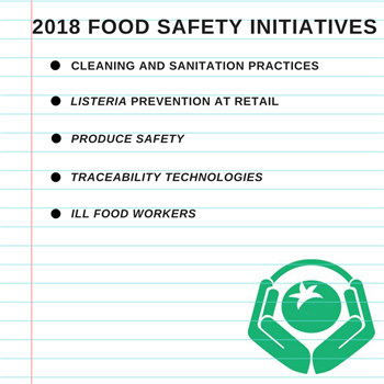2018 Food Safety Priority Initiatives