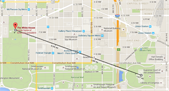 Google Map of Capitol to White House