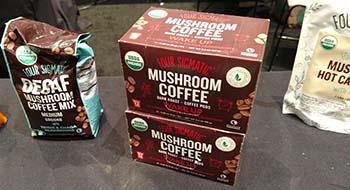 Mushroom products at Fancy Food Show