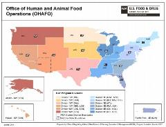 Office of Human and Animal Food Operations Map