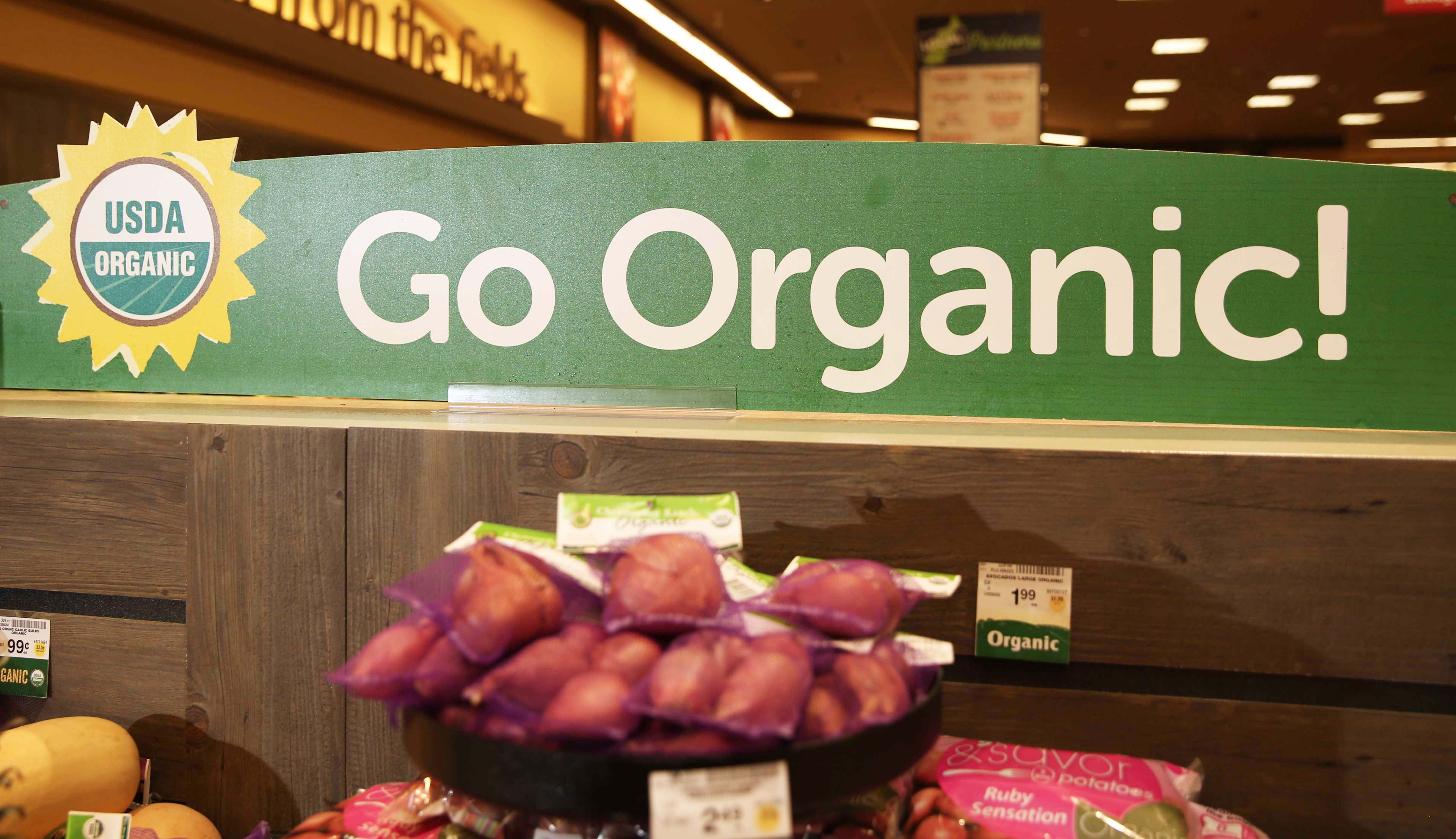 Organic Produce in the Supermarket