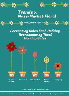 Percent of Sales Each holiday Represents of Total Holiday Sales