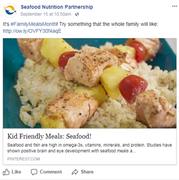 Seafood Nutrition Partnership Facebook