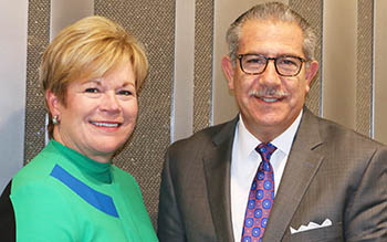 FMI President and CEO Leslie Sarasin and SFA President Phil Kafarakis