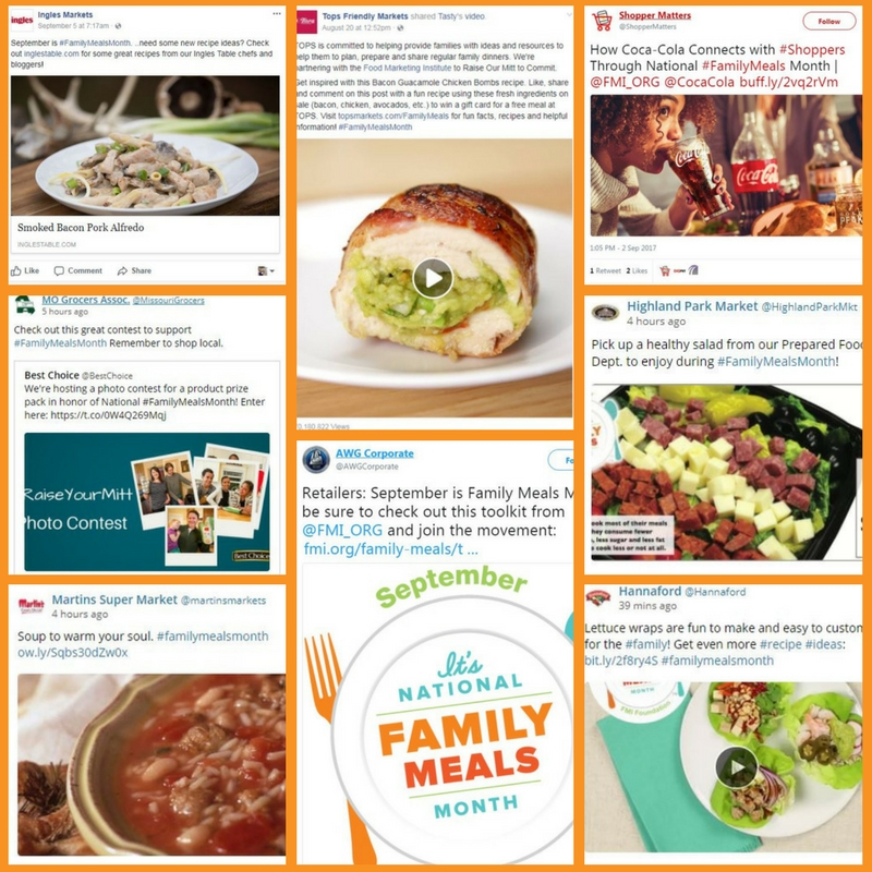 National Family Meals Month Examples