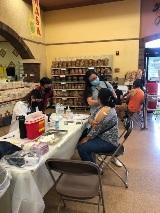 Vaccine clinic in tortilla dept in Santa Ana Store