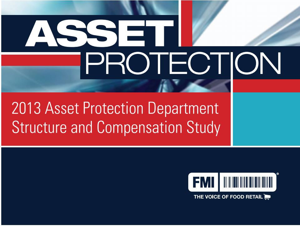 2013 Asset Protection Department Structure Study