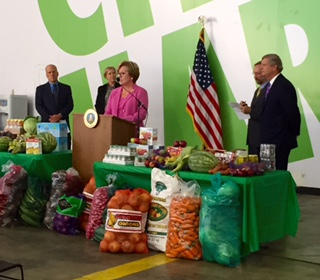 Leslie Sarasin Talks Food Waste Reduction at City Harvest Event with USDA and EPA