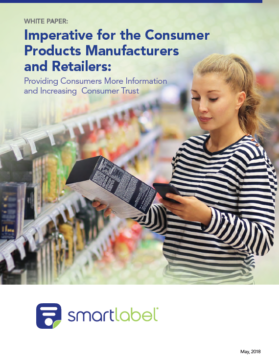 Smartlabel White Paper Cover with R