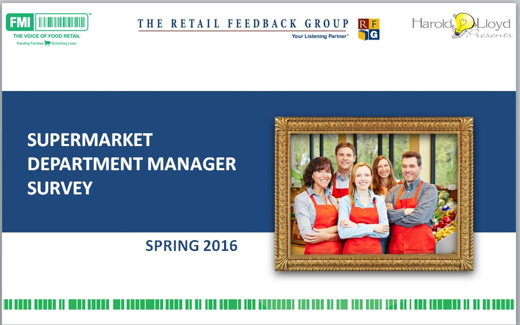 store department manager survey 2016