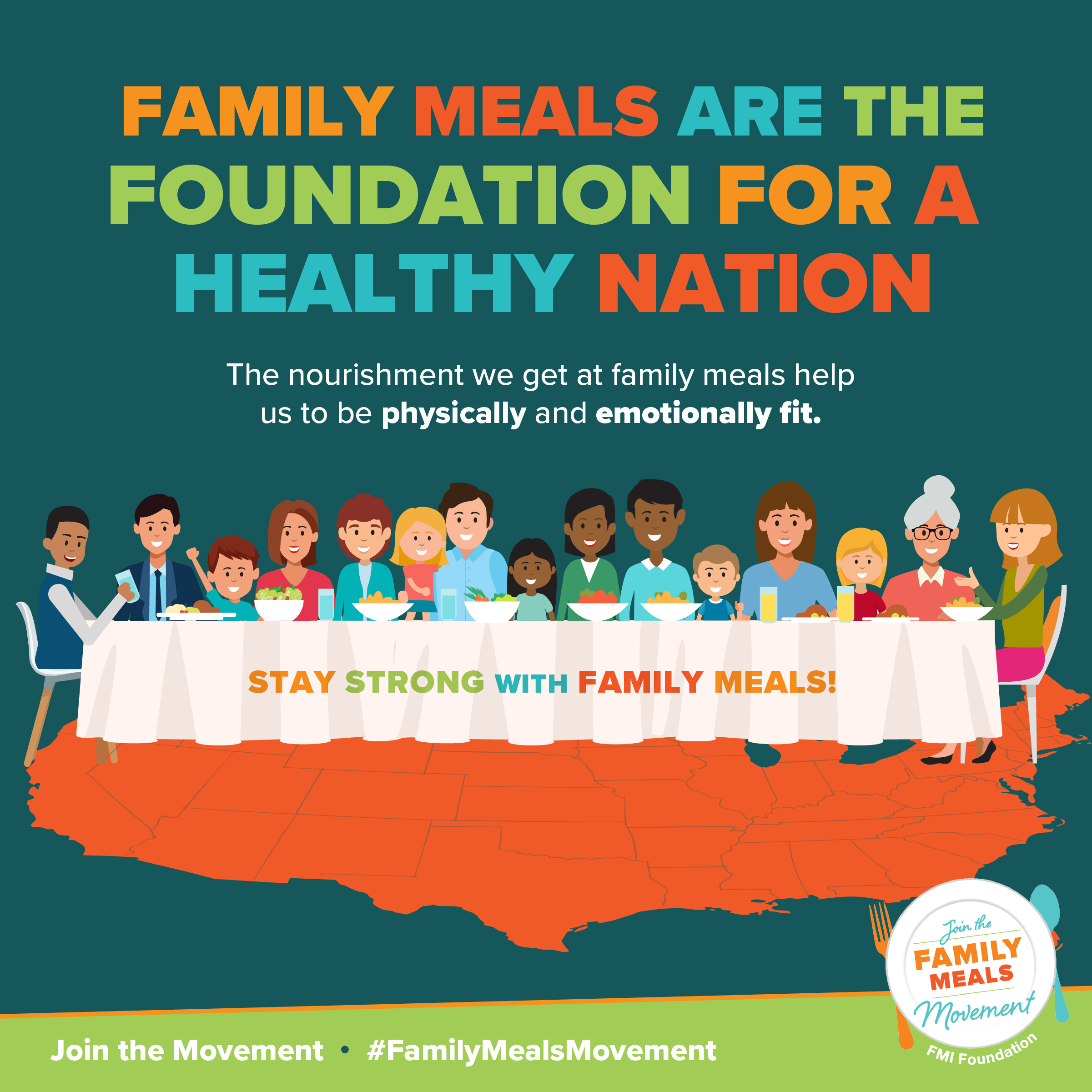 Family Meals are the Foundation for a Healthy Nation