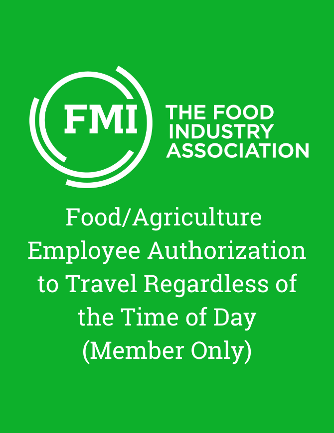 Food Ag employee authorization