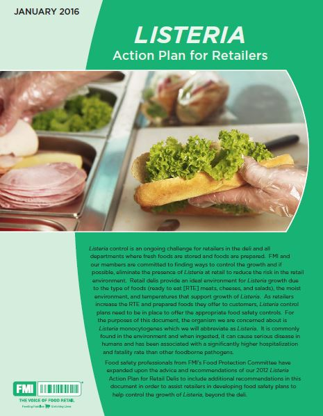 Listeria Action Plan cover