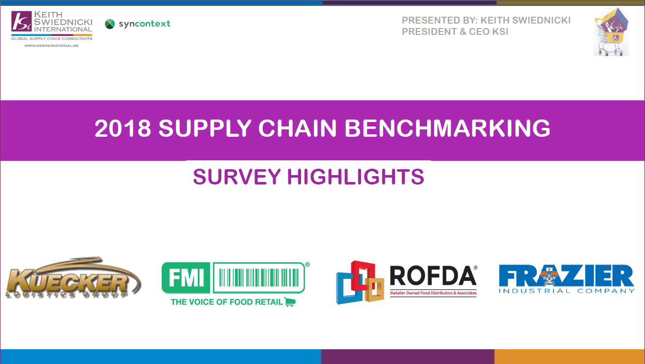 2018 Supply Chain Benchmarking cover