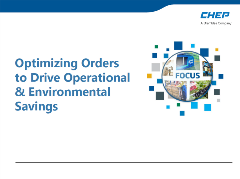 CHEP Optimizing Orders92018