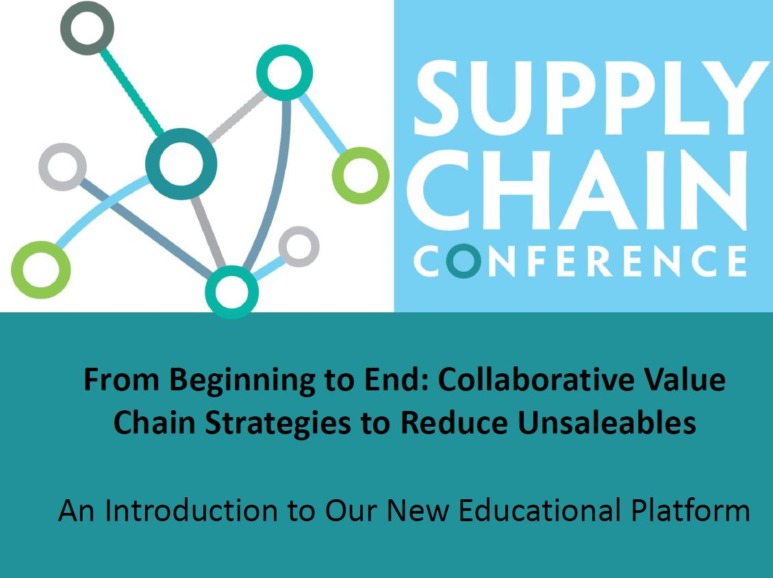 Presentation Collaborative Value Chain Strategies to Reduce Unsaleables
