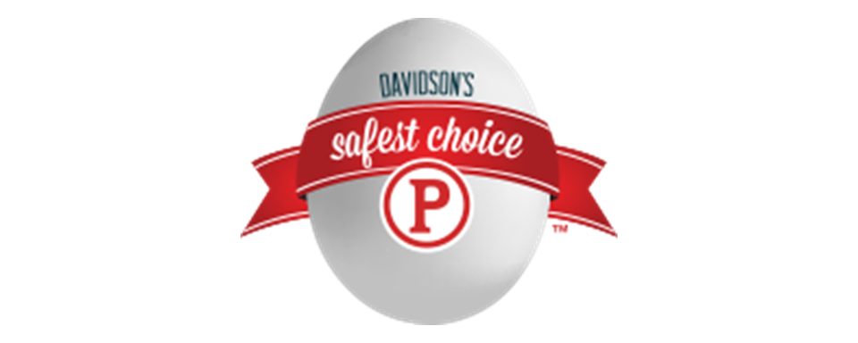 Davidson's Safest Choice Pasteurized Eggs logo - in 5x2 Frame