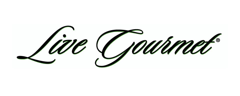 Live Gourmet logo - in 5x2 Frame