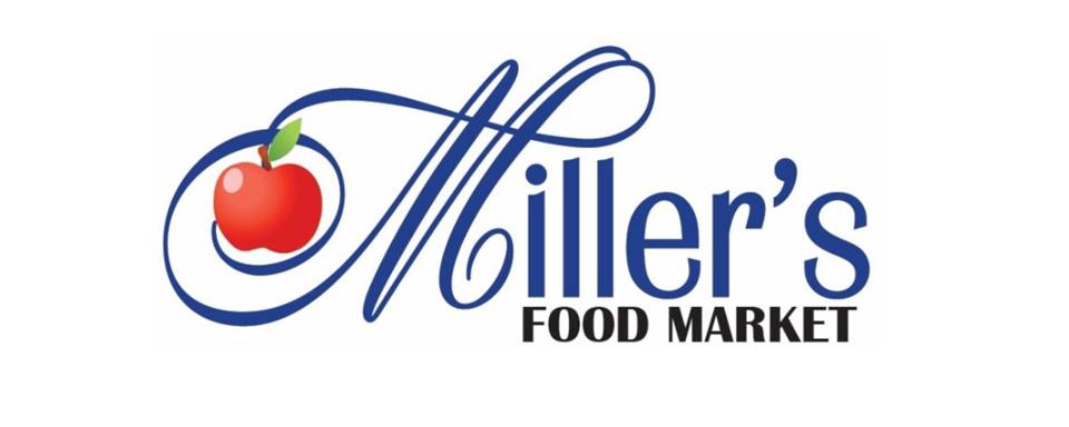 Miller's Food Market logo - in 5x2 Frame