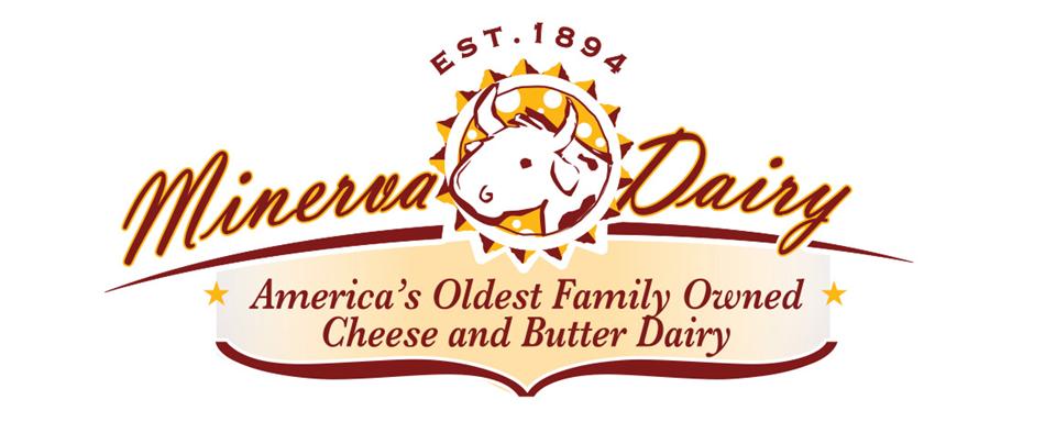Minerva Dairy logo - in 5x2 Frame