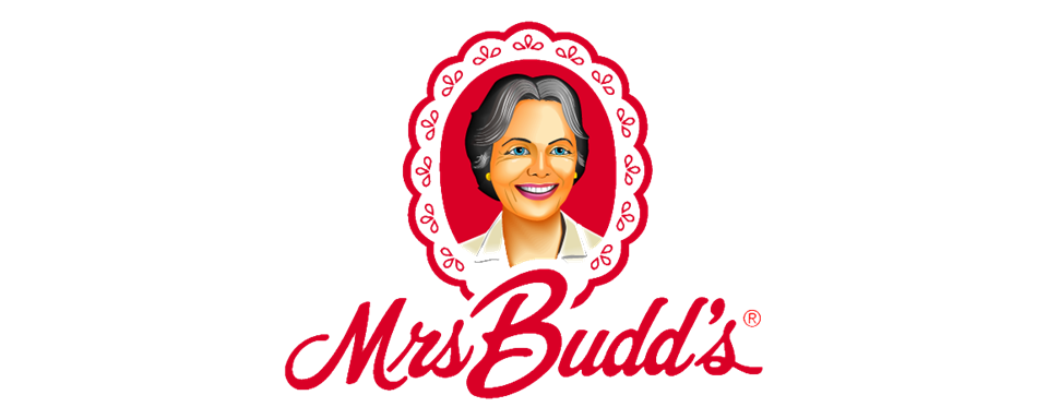 Mrs Budd's logo - in 5x2 Frame