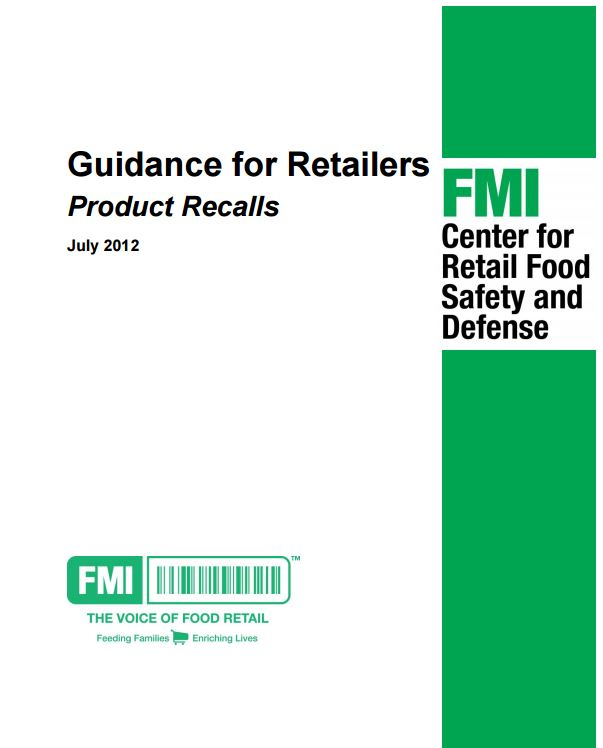 Guidance for Retilers on Product Recalls