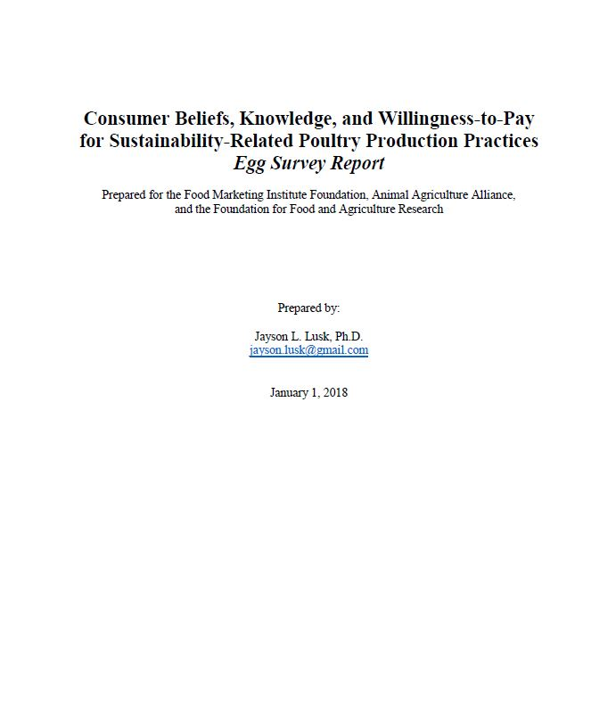 Consumer Willingness to pay eggs