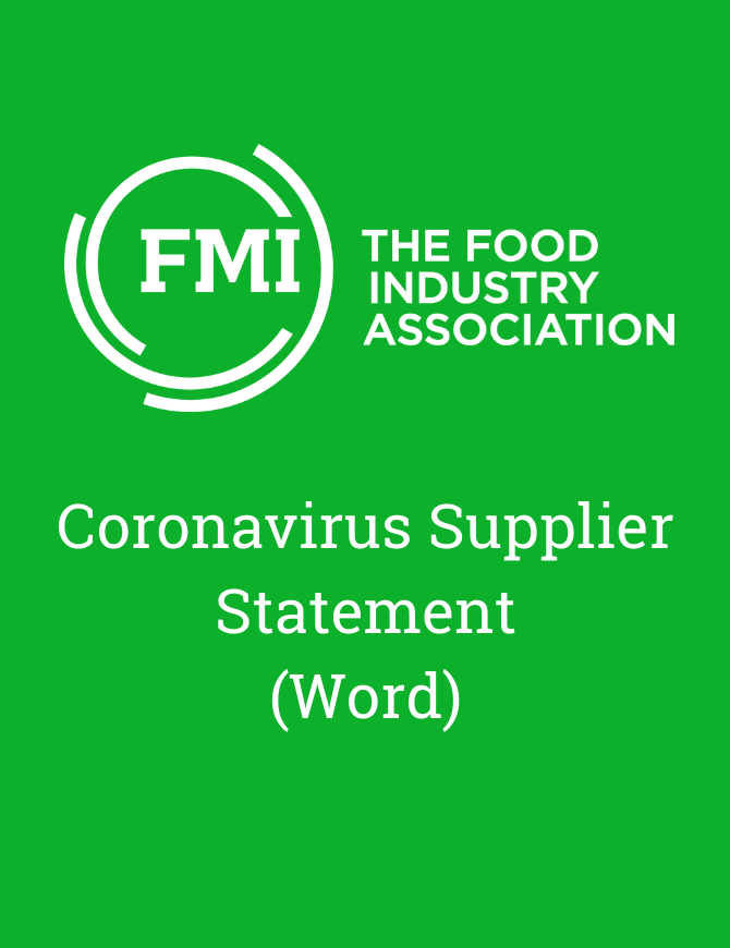 Coronavirus supplier statement word